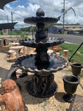 3 tier scollup fountain Italian acorn