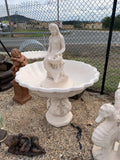 Corinthian fountain with mermaid