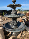 3 tier diamond fountain with doves