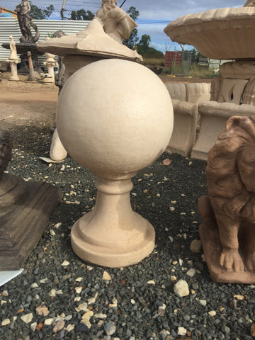 Ball with stand finial statue