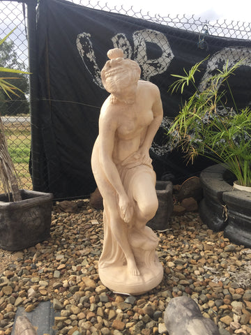 Large bathing lady statue
