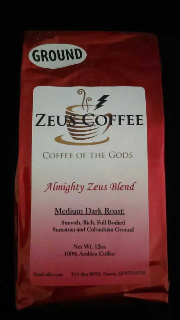 Coffee Blend: Almighty Zeus - 12oz, Whole Bean or Ground