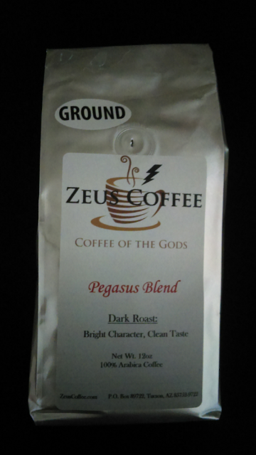 Coffee Blend: Pegasus - 12oz, Whole Bean or Ground