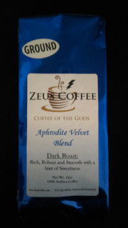 Coffee Blend: Aphrodite Velvet - 12oz, Whole Bean or Ground