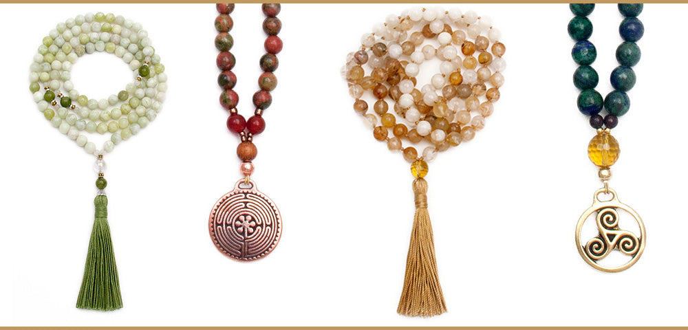Unique Gifts for Women Mala Necklace Long Necklace Colorful Gemstone Necklace Buddhist Mala Bead Tassel Necklace Chakra Necklace