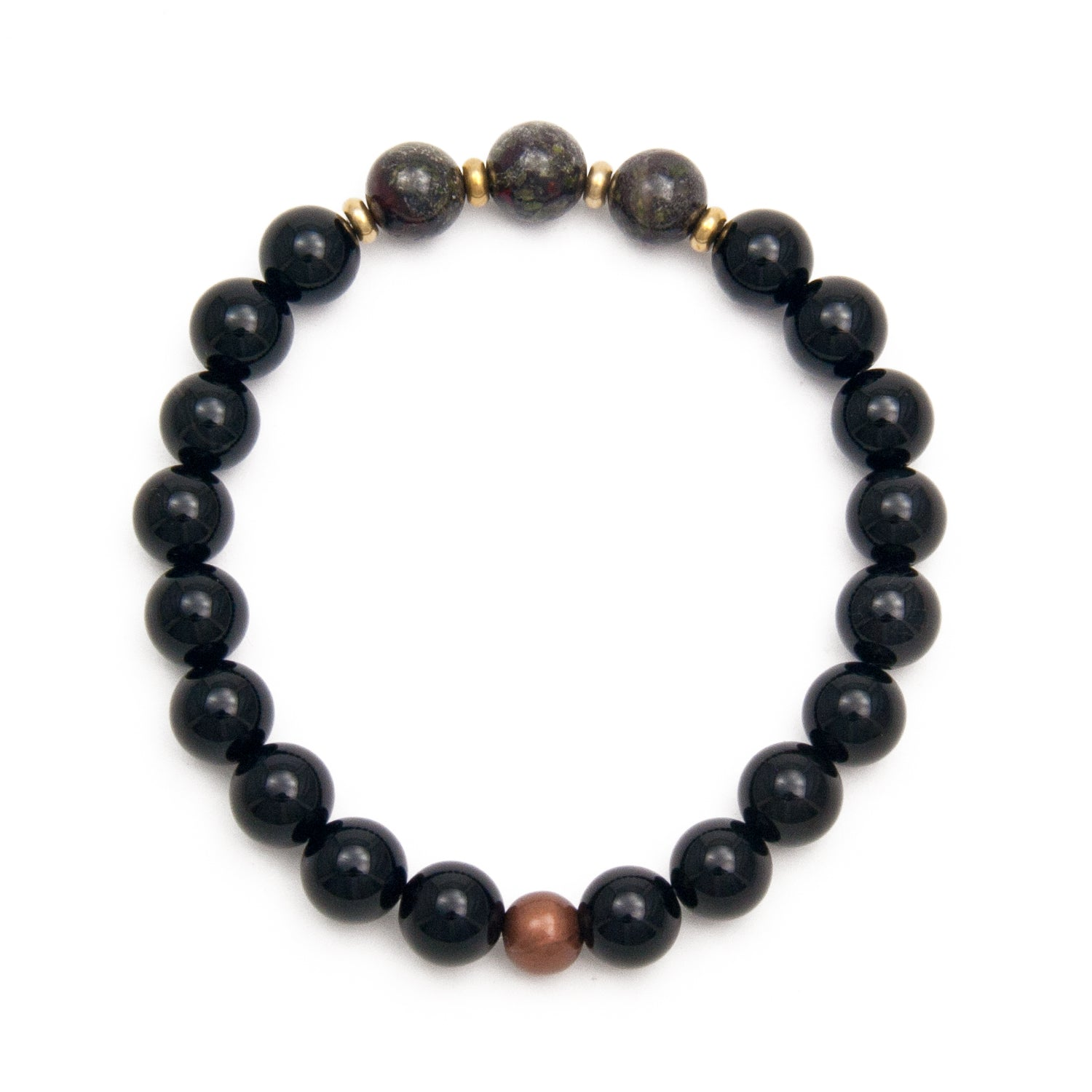 Onyx & Dragons Blood Bracelet