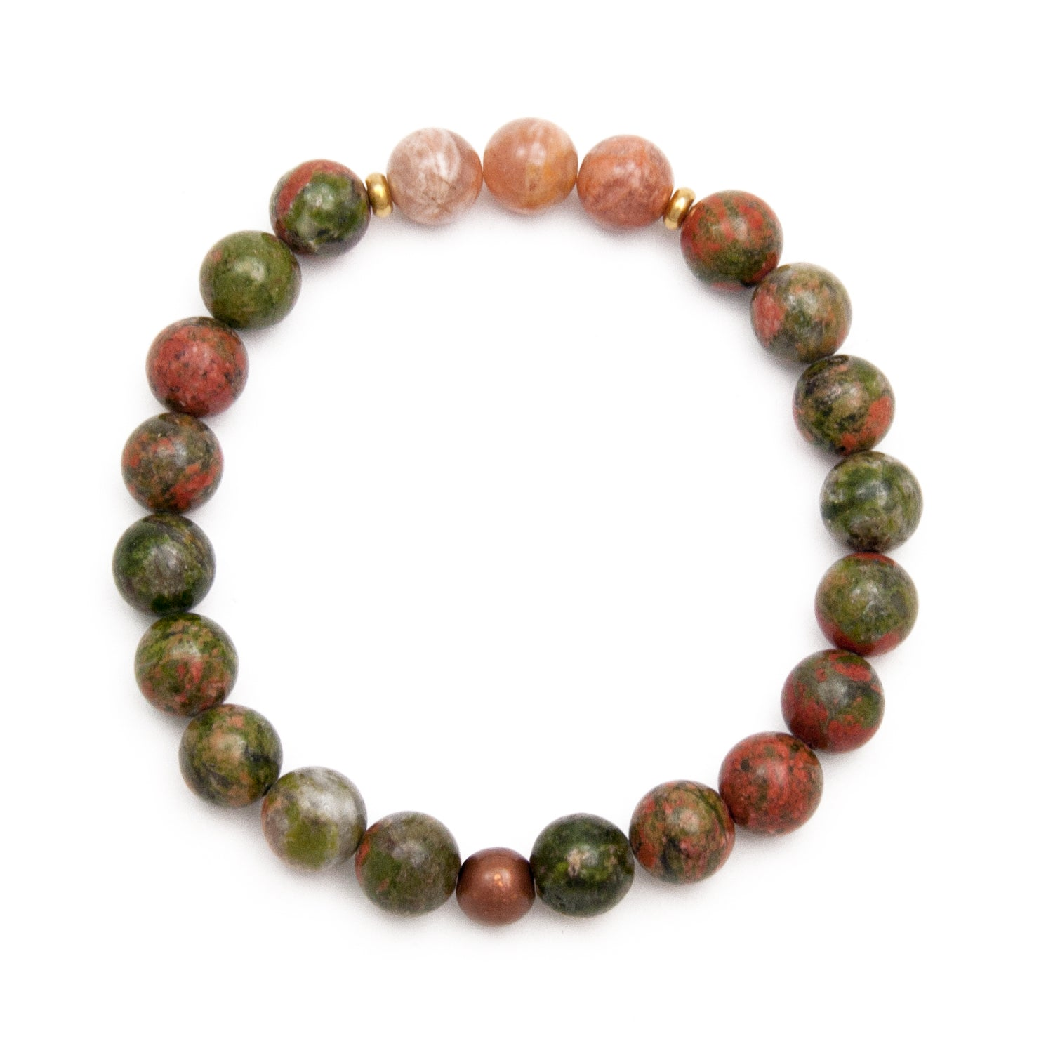 Happiness Bracelet - Sunstone & Unakite