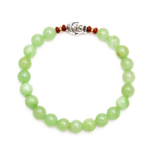 Green Calcite Bracelet with Buddha