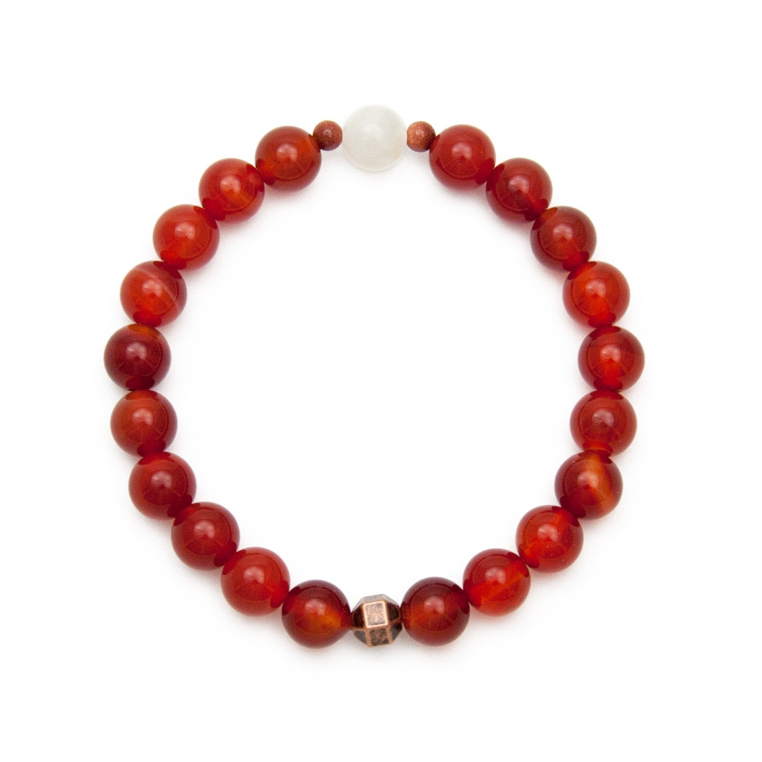 Carnelian & Moonstone Bracelet by Golden Lotus Mala