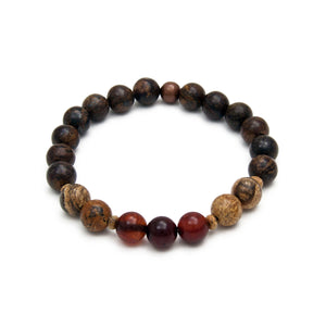 Simply Being Bracelet - Bronzite & Carnelian