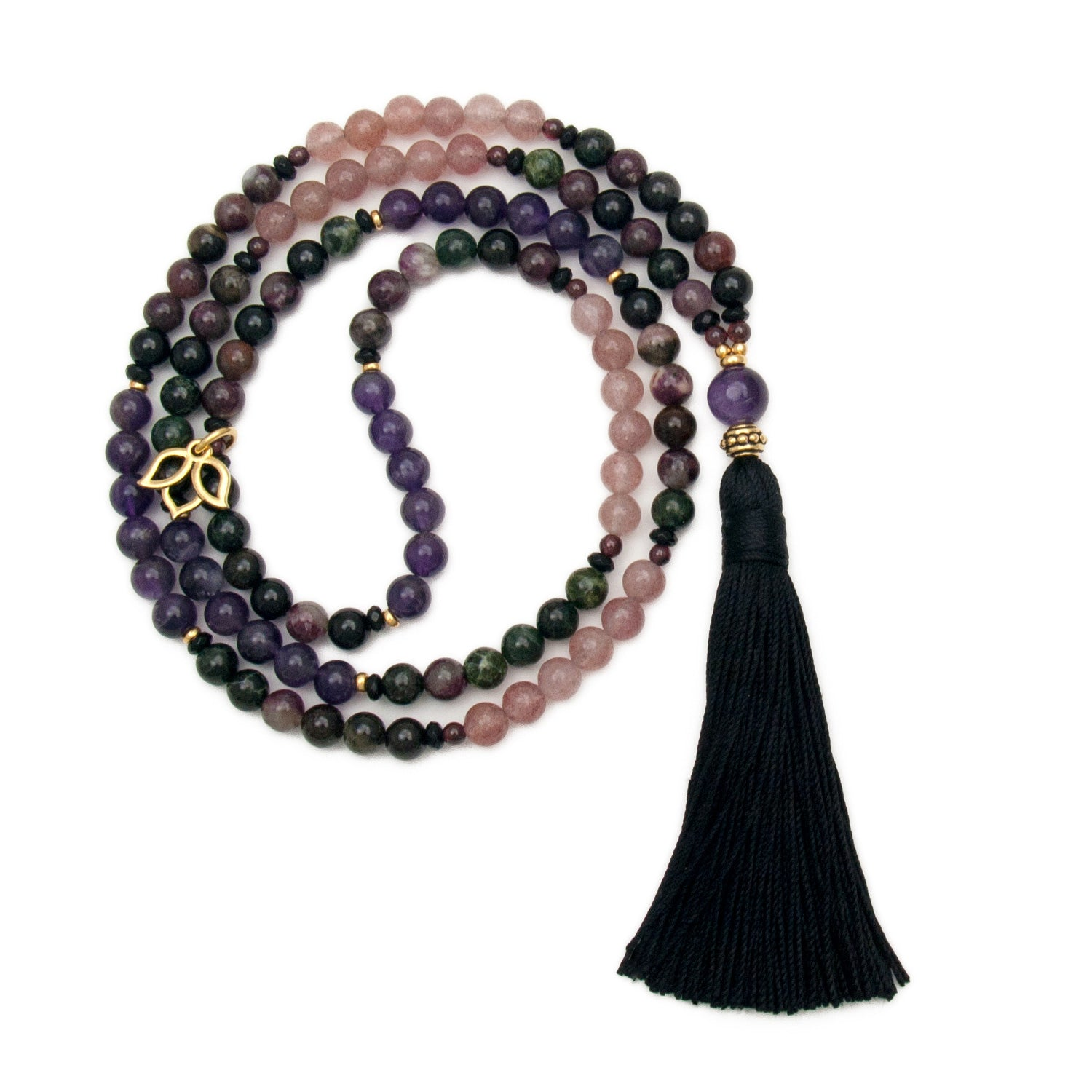 Cosmic Harmony Mala Necklace by Golden Lotus Mala