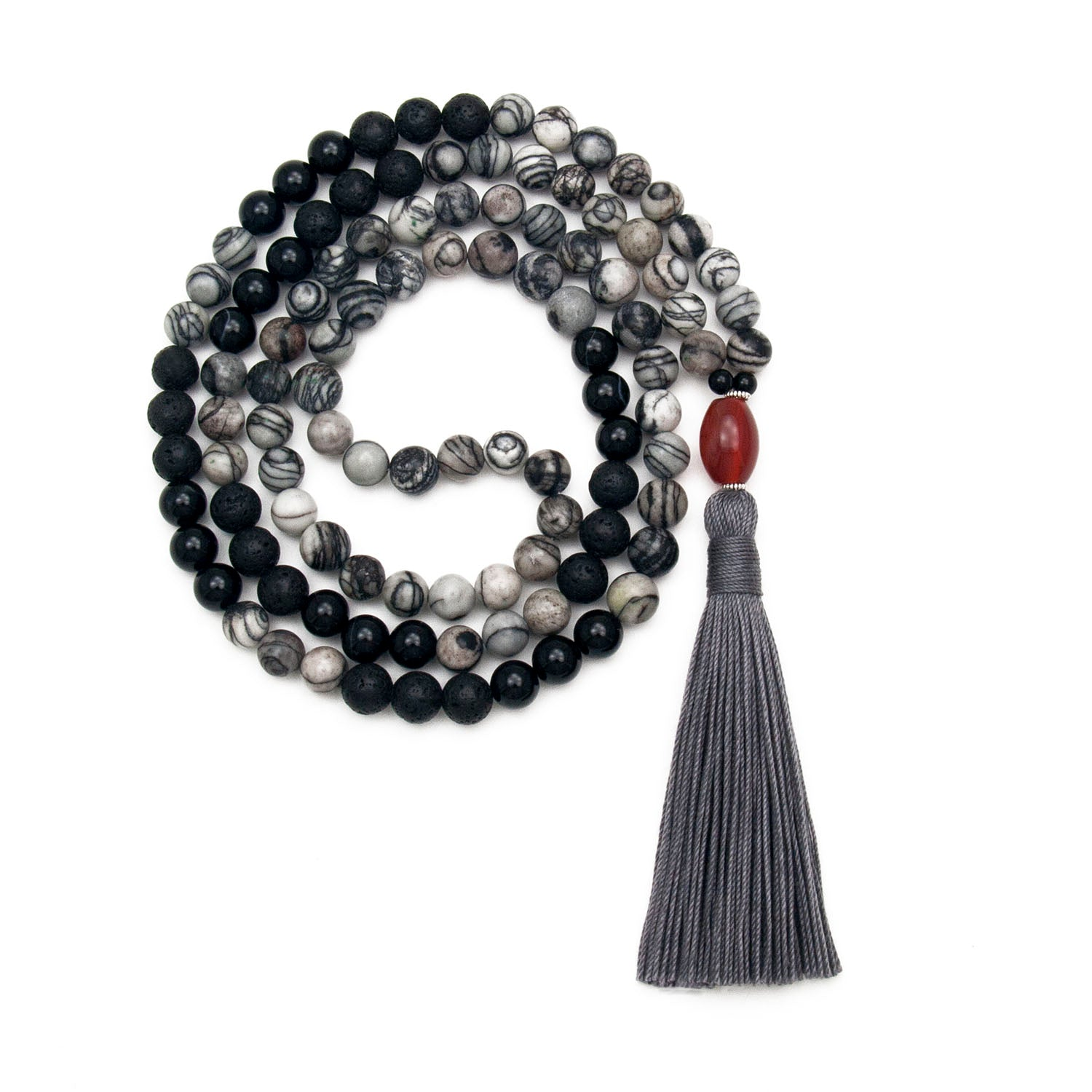 Noble Strength Mala - Spiderweb Jasper
