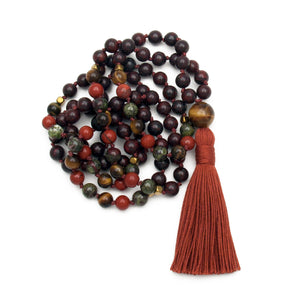 Earth Spirit Mala - Jasper & Tiger Eye
