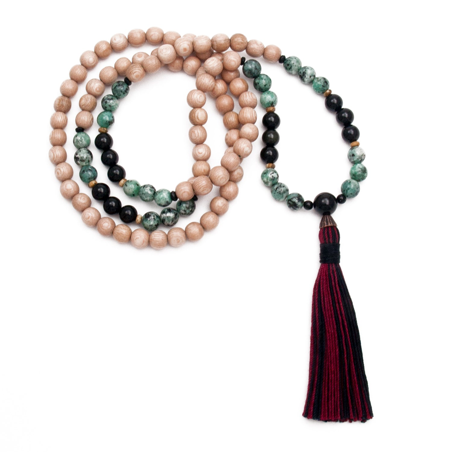 Rosewood Mala with Jasper and Onyx