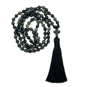 Christian Mala Necklace Divine Grace by Golden Lotus Mala