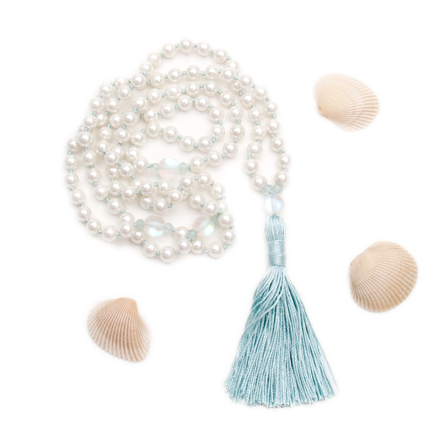 Mermaid Mala - Pearl & Quartz