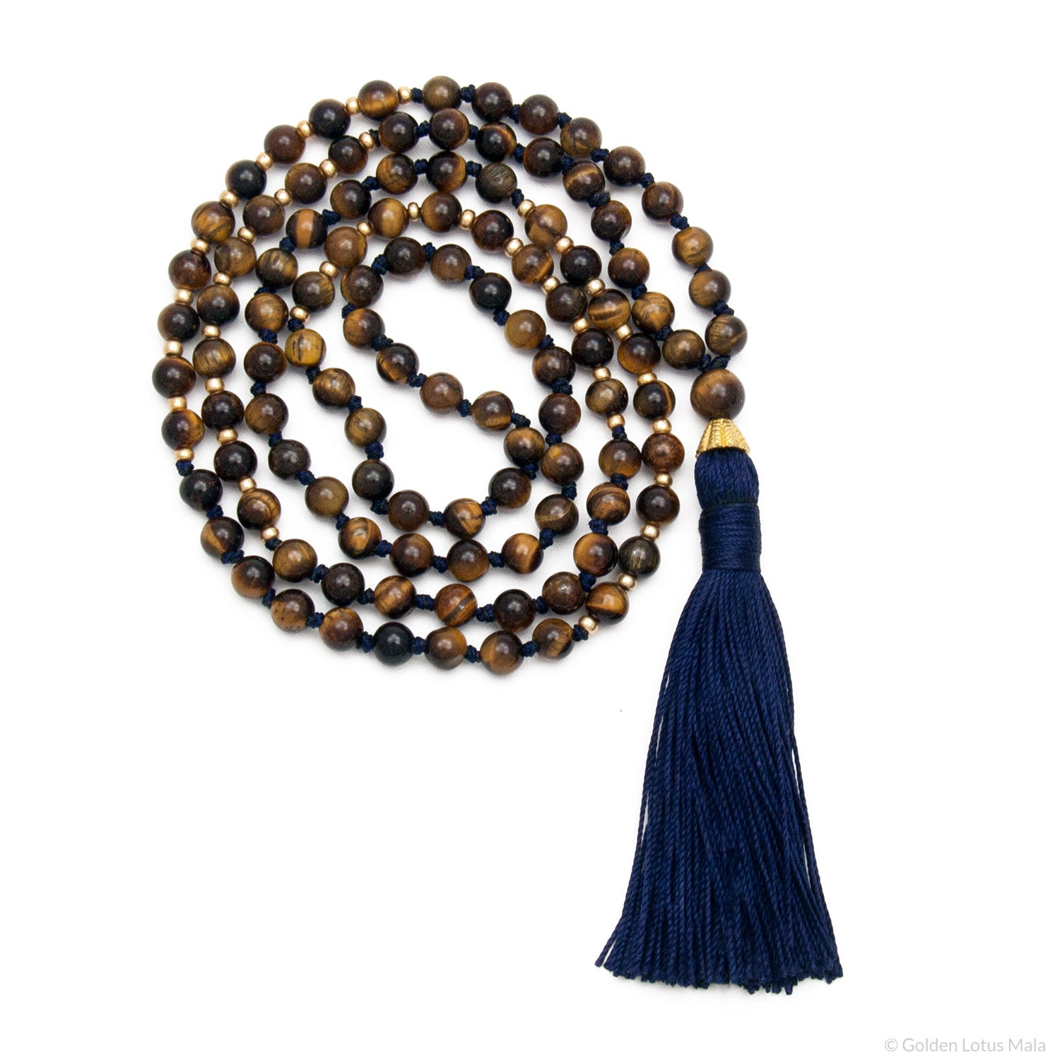 I Am Confident Mala - Tigers Eye