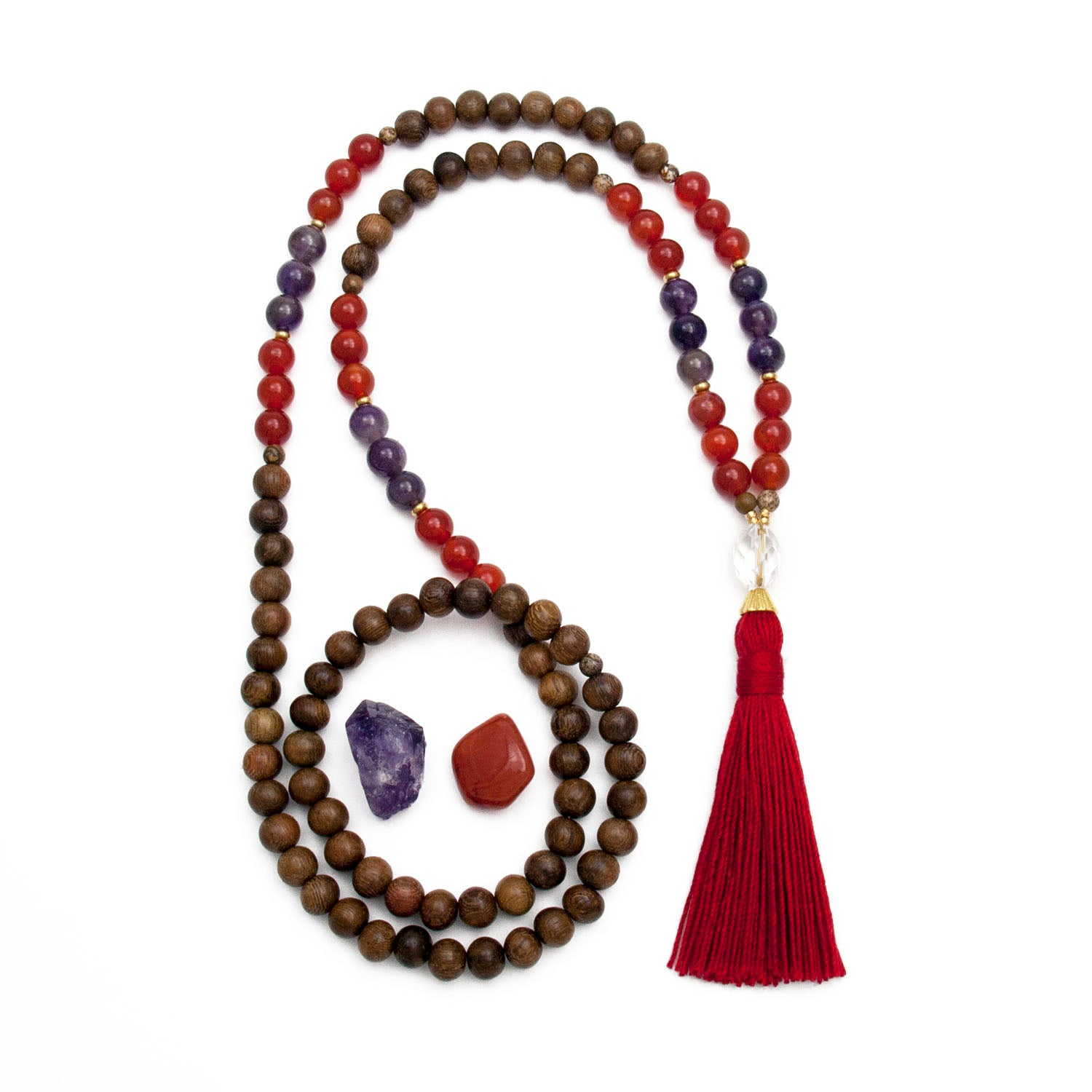 Aries Zodiac Mala Necklace by Golden Lotus Mala