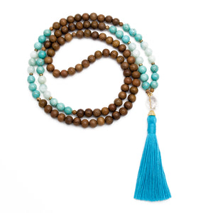 Aquarius Zodiac Mala by Golden Lotus Mala