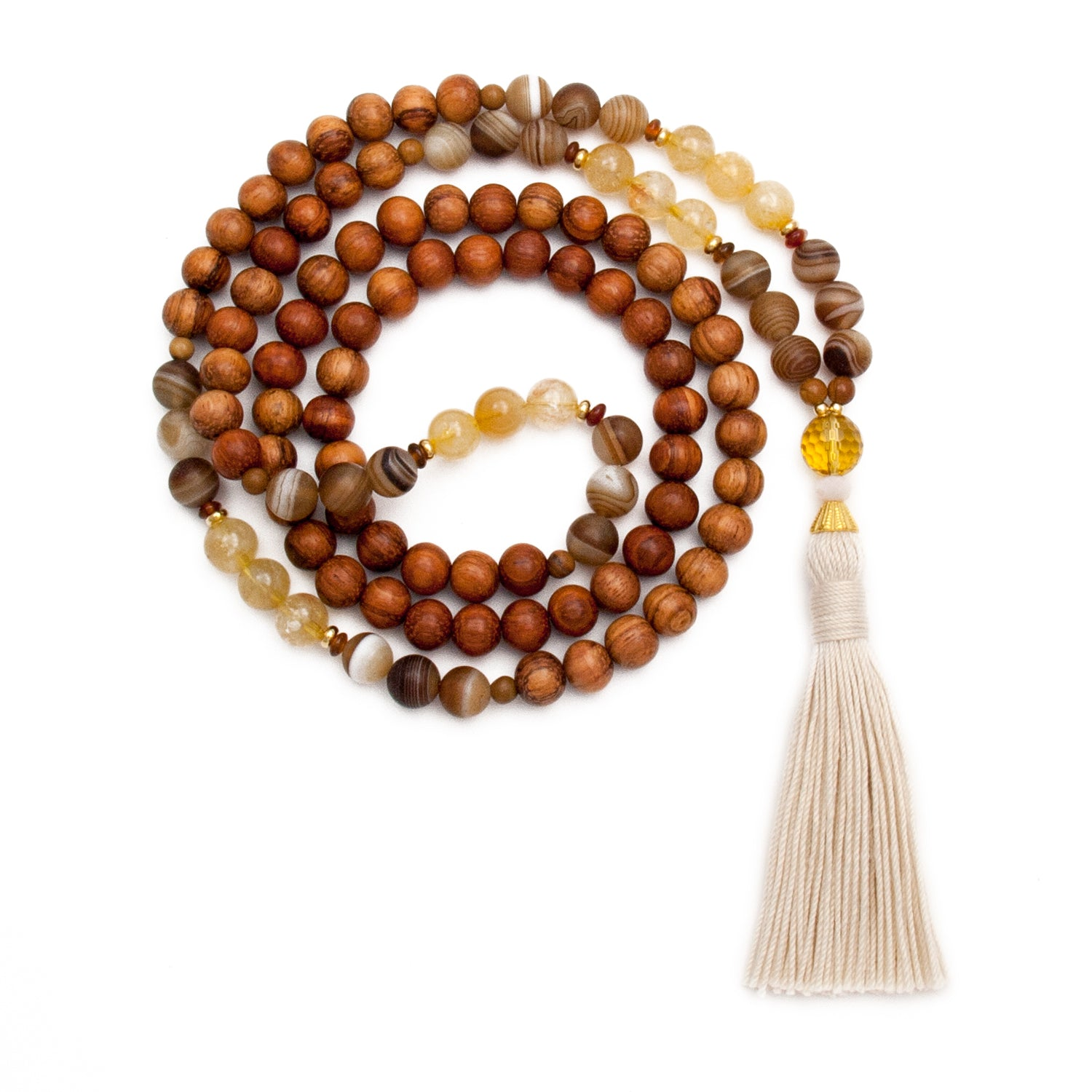 Citrine Agate Mala Necklace