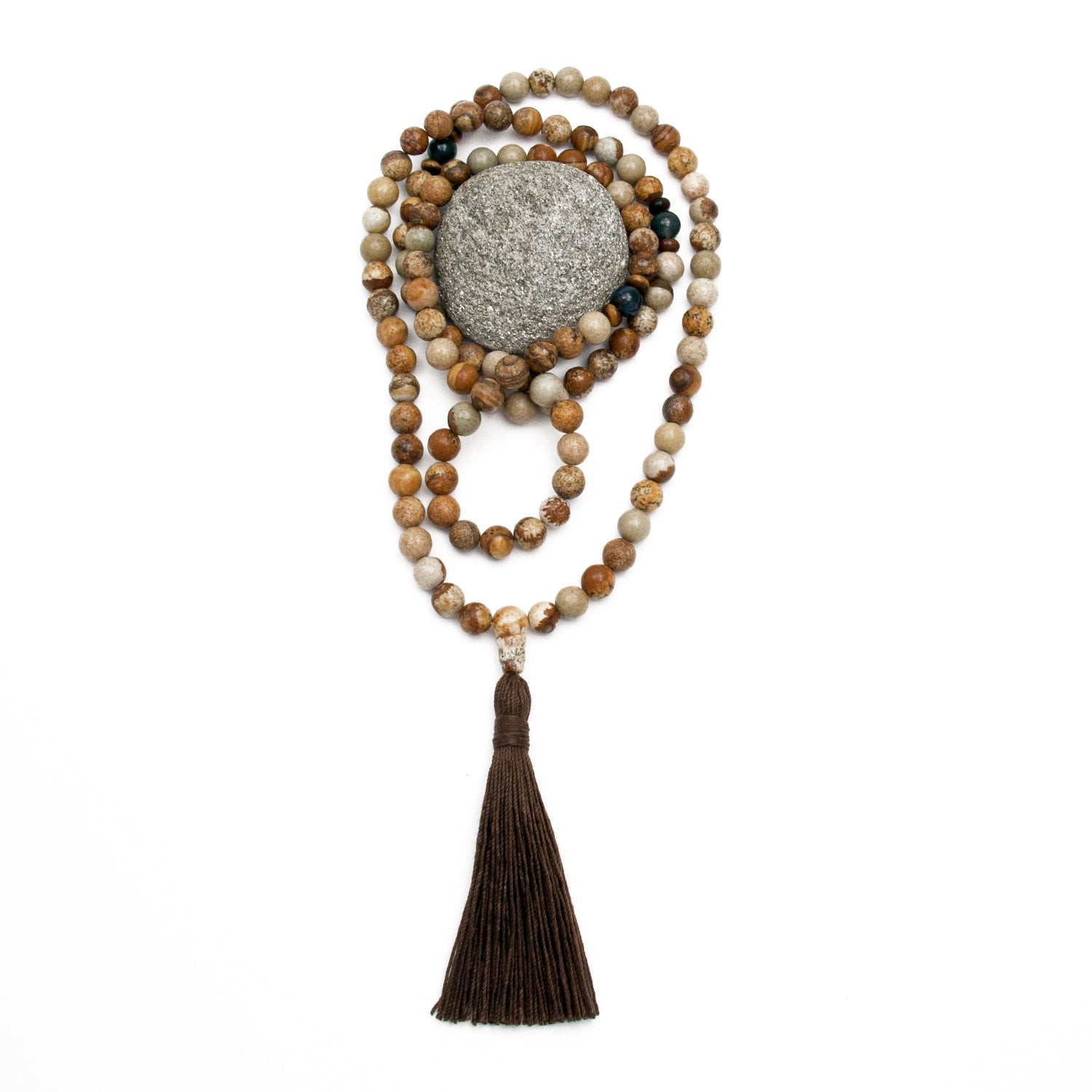 One With Nature Mala - Grounding - Picture Jasper