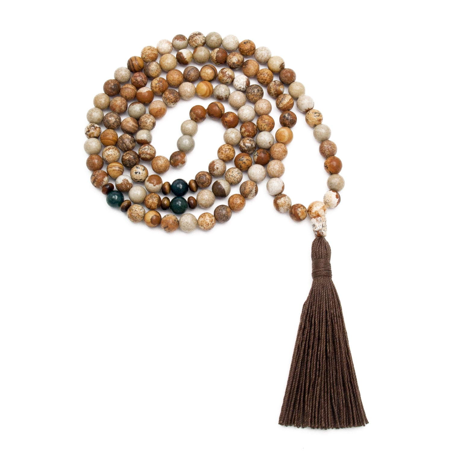 Grounding Mala - 108 Jasper Gemstones