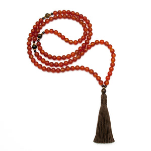 Creative Energy Mala Carnelian and Tiger's Eye