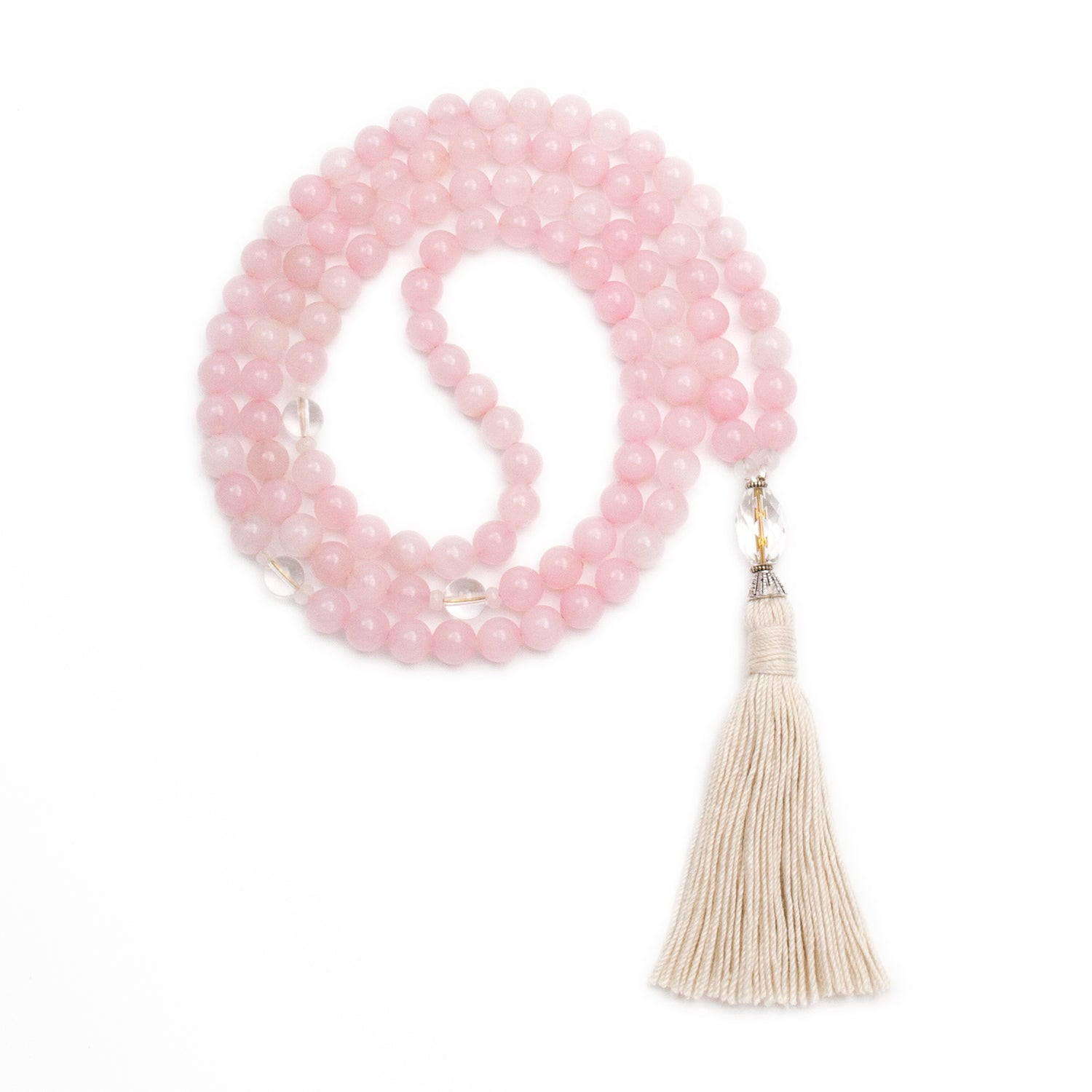 Rose Quartz Mala of Compassion by Golden Lotus Mala