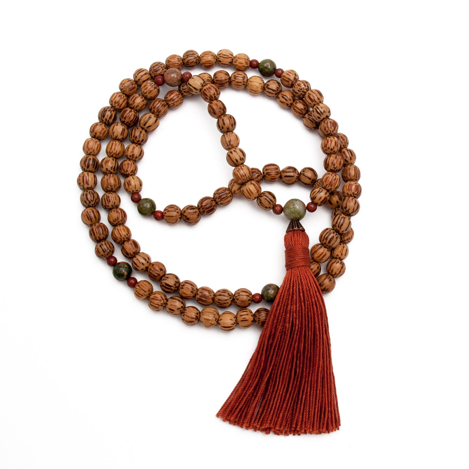 Peaceful Vibes Mala - Unakite & Palm