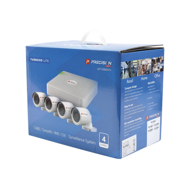 All in one CCTV kit, includes 4 channels DVR
