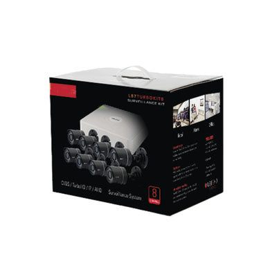 All in one CCTV kit, includes 720p DVR