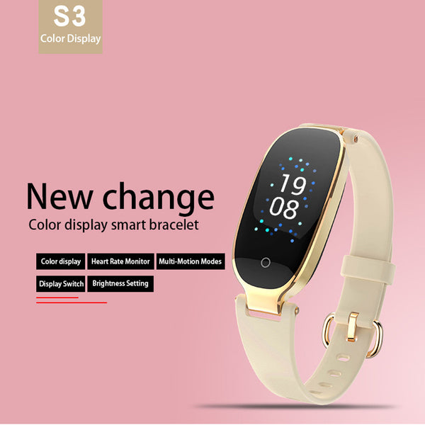 Bluetooth Waterproof S3 Plus Color Screen Waterproof Heart Rate Monitor  Smartwatch For Android IOS