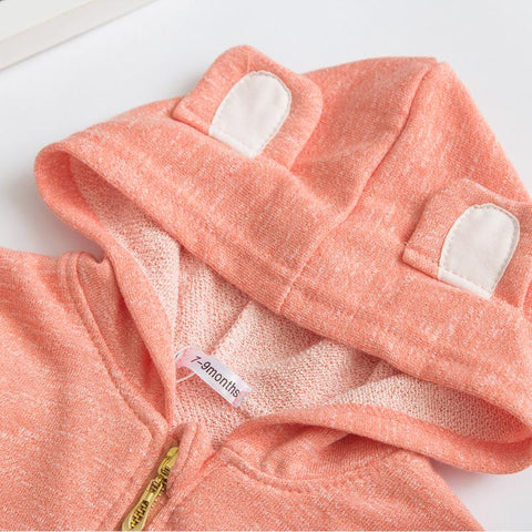 Bella - Peach Baby Girl Jacket