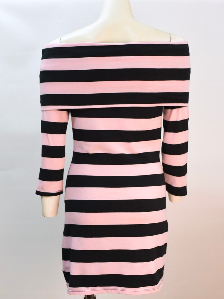Audrey Stripe Bodycon Dress - AS IS - light pilling