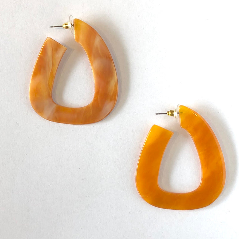 Jurassic Amber Earrings