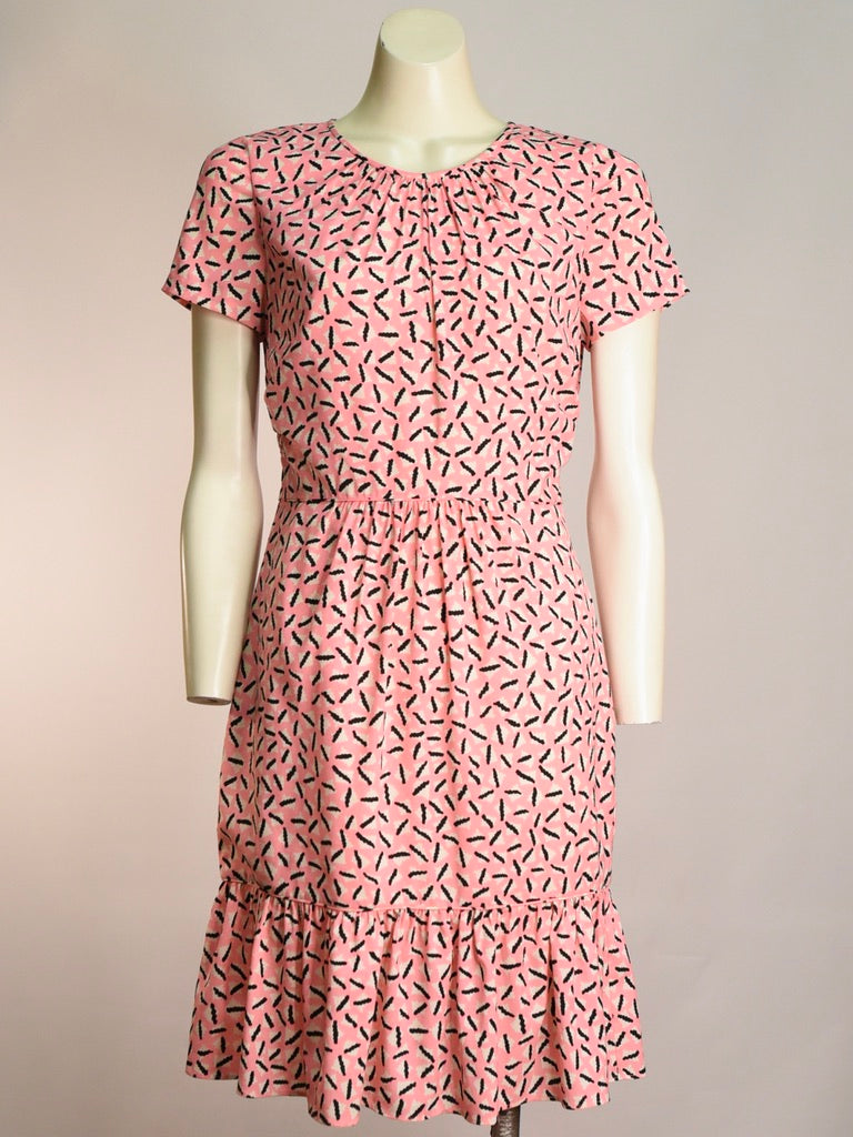 Squiggle Pink Dress