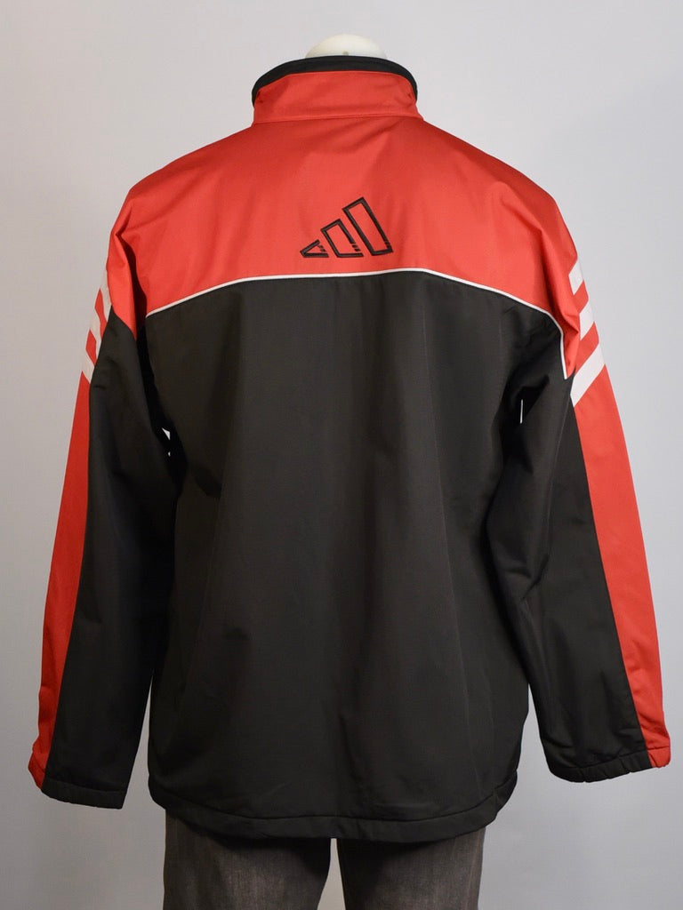 Adidas Black and Red Spray Jacket