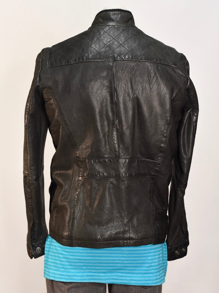 Lagerfeld Leather Jacket - AS IS - mark and zip