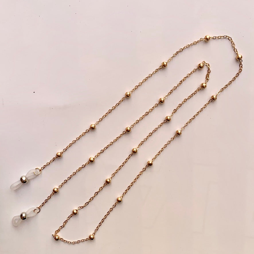 Sunnies Strap - Gold Beaded Chain
