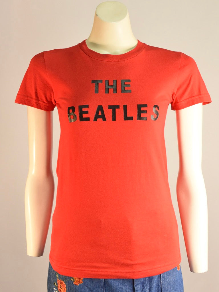 Red Beatles Tee - AS IS - decal cracking