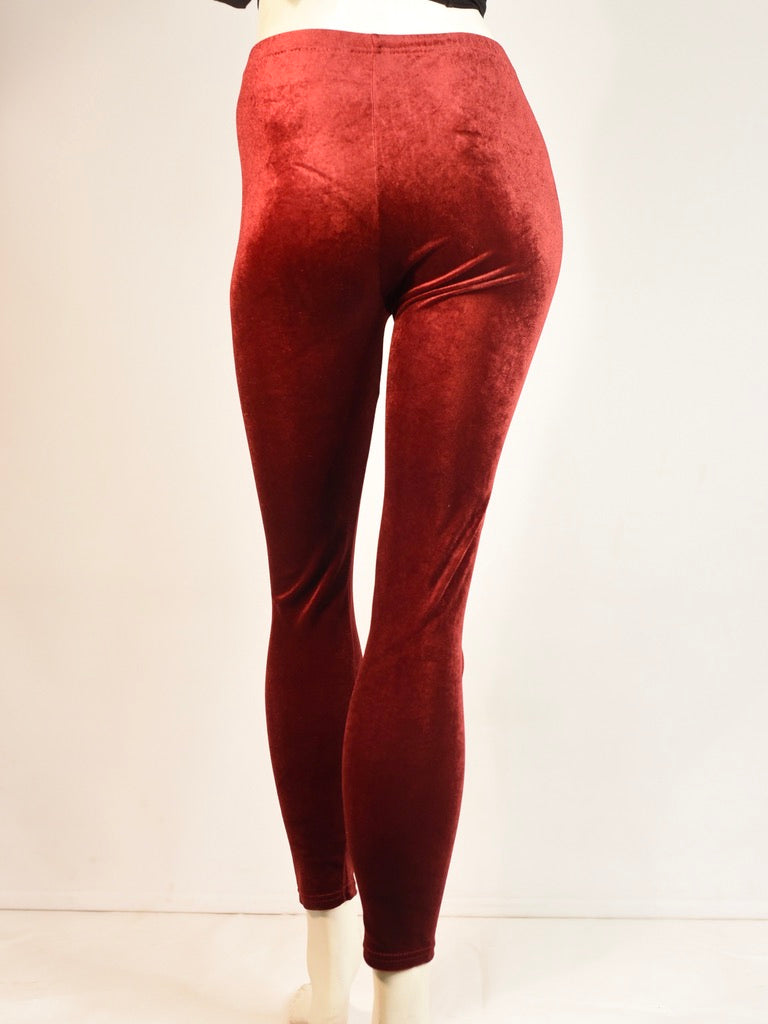 Lux Red Velvet Leggings