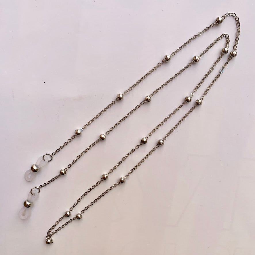 Sunnies Strap - Silver Beaded Chain