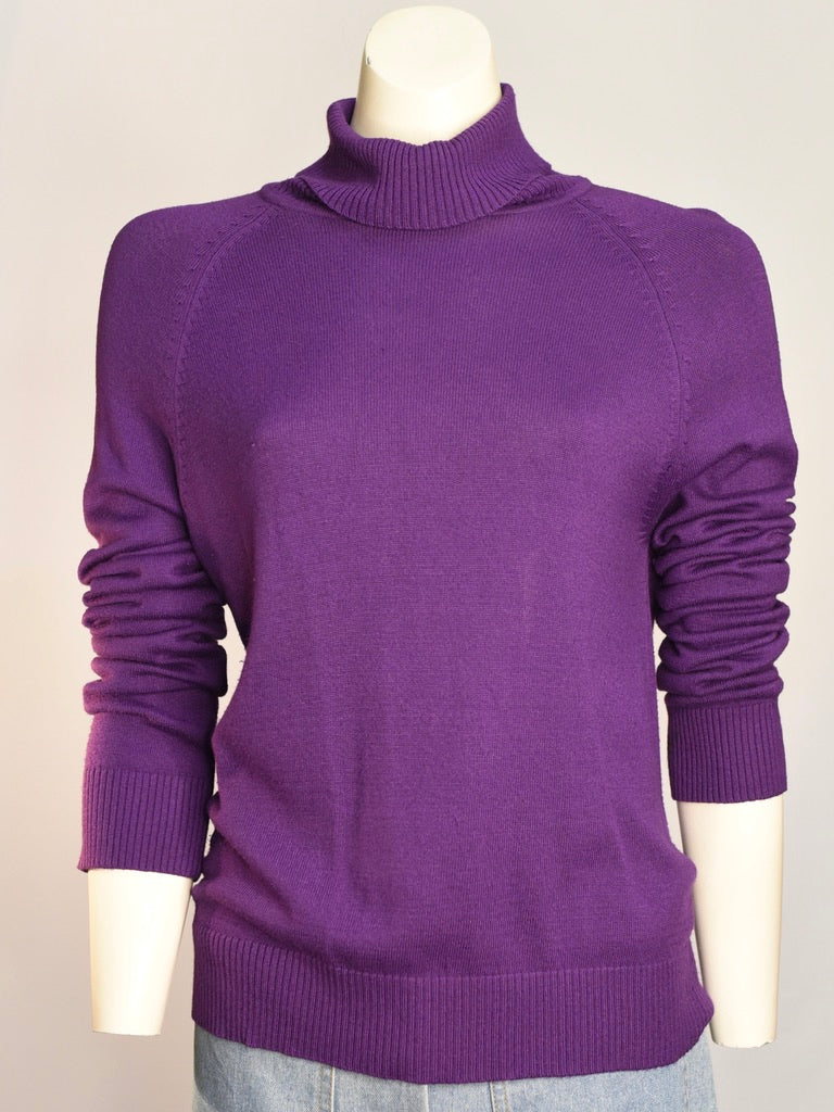 Eggplant Turtleneck - AS IS - minor pulling