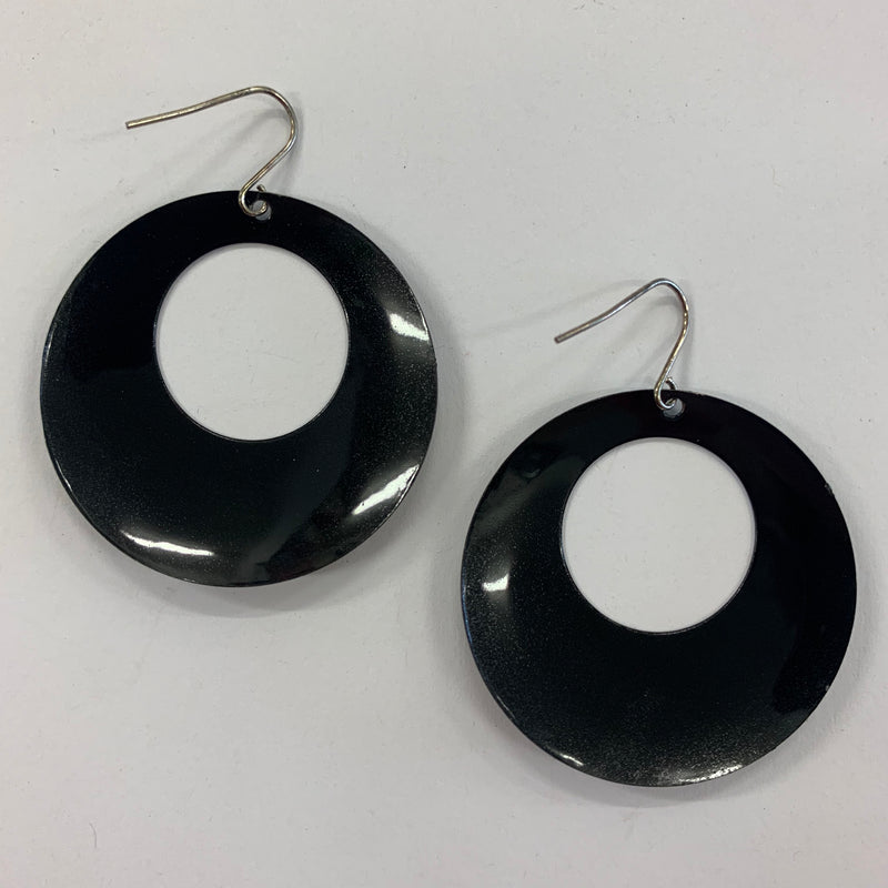 Bold Black 60s Earrings