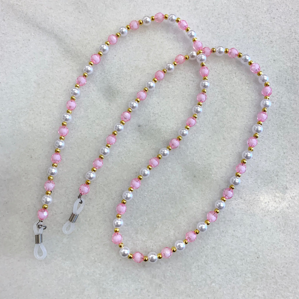 Sunnies Strap - Pink Beads