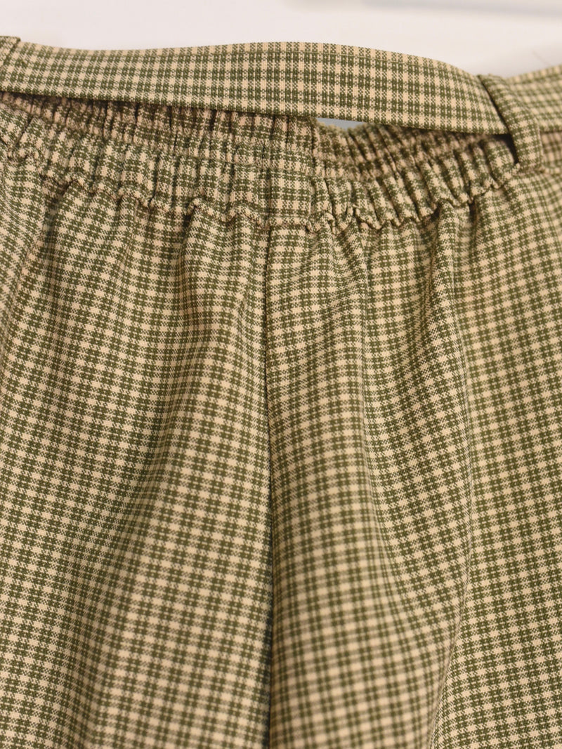 Moss Gingham Tartan Pants - AS IS - wear under belt