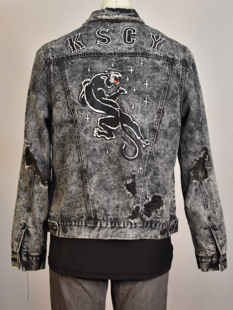 Kiss Chacey Black Panther Denim Jacket