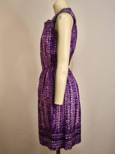 Purple Tie Dye Dress - AS IS - zip