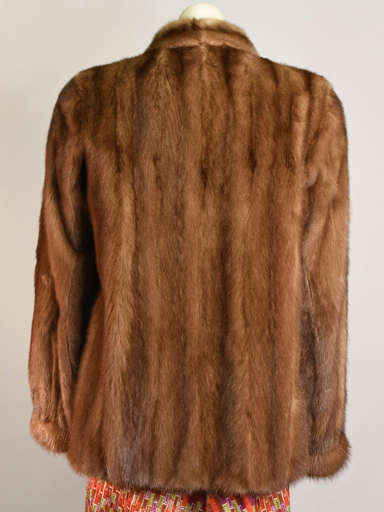 Mahogany Fur Coat
