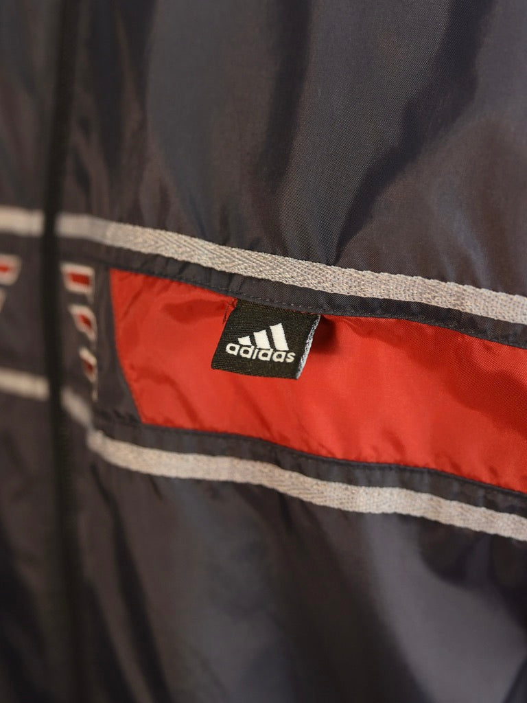 Adidas Grey Spray Jacket - AS IS - lining marks